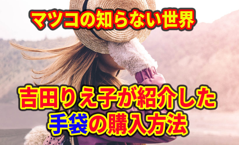 マツコの知らない世界で吉田りえ子が紹介した手袋の購入方法(ヨークス株式会社)