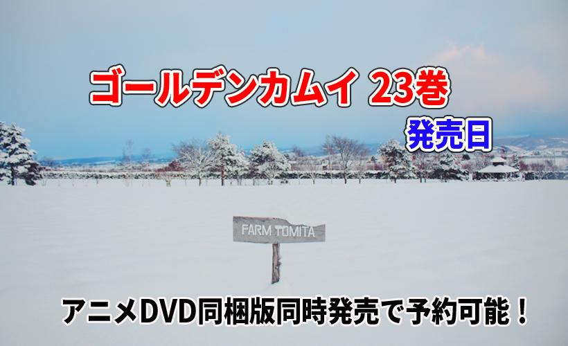 ゴールデンカムイ 23巻の発売日や最安値!アニメDVD同梱版同時発売で予約可能!