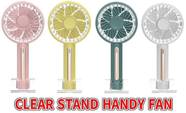 CLEAR STAND HANDY FANの口コミと通販最安値!上下風向き調節可能な携帯扇風機