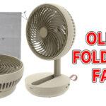 OLLY FOLDING FANの口コミと最安値!サーキュレーター式卓上扇風機